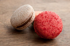 Ассортимент французских macarons Стоковая Фотография