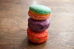 Ассортимент французских macarons Стоковые Фото