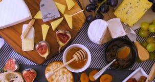 Ассортимент французского и великобританского сыра Стоковое Фото