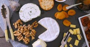 Ассортимент французского и великобританского сыра Стоковые Изображения