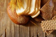 Ассортимент хлеба (рож, всей пшеницы, для здравицы) Стоковое Фото