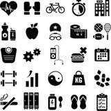 Иконы здоровья и пригодности Стоковое Изображение