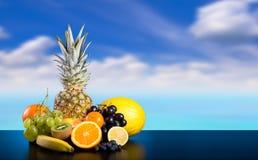 Ассортимент экзотических плодоовощей стоковые изображения rf