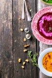 Ассортимент cream супов Стоковые Фото