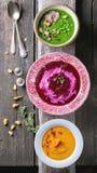 Ассортимент cream супов Стоковое Фото