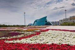 Астана, Казахстан - 25-ое августа 2015: Центральный концертный зал Казахстан Стоковое Изображение RF