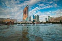 АСТАНА, КАЗАХСТАН - 24-ое августа 2015: Центр города Астаны Стоковые Фото