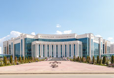Астана, Казахстан - 6-ое сентября 2016: Университет VI Nazarbayev стоковое фото
