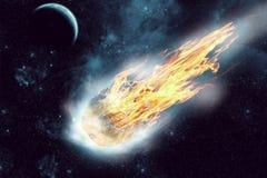 Астероид в космосе стоковая фотография rf