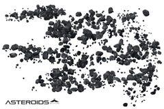 Астероидная иллюстрация поля Стоковая Фотография