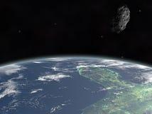 Астероид на земле Стоковое Изображение