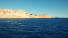 Астетически угождая Seascape Адриатического моря со своими островами на заднем плане стоковое изображение rf