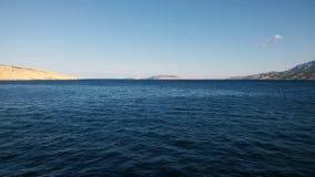 Астетически угождая Seascape Адриатического моря со своими островами на заднем плане стоковая фотография rf