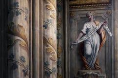 Асти Италия, интерьер собора Стоковые Изображения RF