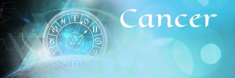 Астрология зодиака Карциномы мистическая иллюстрация штока