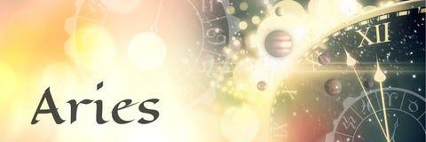 Астрология зодиака Aries мистическая иллюстрация вектора