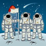 Астронавты Tintamarresque на векторе искусства шипучки луны Стоковые Изображения