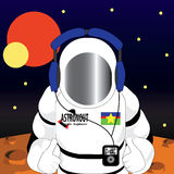 Астронавт в космосе Стоковое фото RF