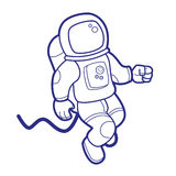 Астронавт космоса иллюстрация штока