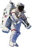 Астронавт, наружный изолированный выход в открытый космос, стоковое изображение rf