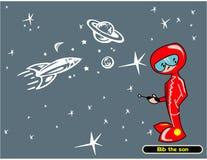 астронавт немногая Стоковая Фотография RF