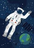 Астронавт с землей Стоковые Изображения