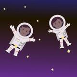 Астронавт человека и женщины Стоковое Изображение RF