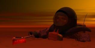 астронавт 3 мертвый Стоковые Изображения RF