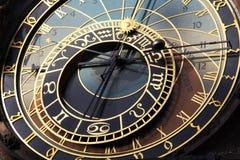 астрономические прописные часы чех prague Стоковое Фото