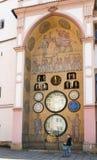 Астрономические часы города s Olomouc - деталь Стоковое фото RF