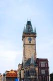 Астрономические часы на старой башне ратуши в Праге Стоковая Фотография RF