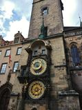 Астрономические часы на старой городской площади Стоковое фото RF