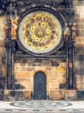 Астрономические часы на старой ратуше в Праге, чехословакском Стоковое фото RF