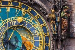 Астрономические часы Прага Стоковые Изображения RF