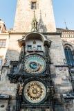 Астрономические часы Праги на Праге, чехии стоковые изображения rf