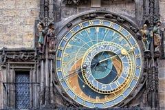 Астрономические часы Праги средневековые Стоковое фото RF