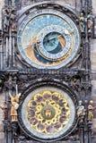 Астрономические часы Праги средневековые Стоковая Фотография RF