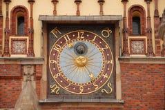 астрономические часы стоковое фото