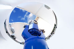 Астрономический телескоп обсерватории крытый стоковое фото rf