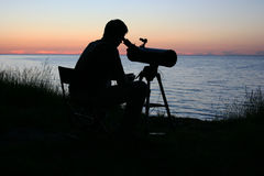 астроном Стоковое фото RF