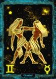 Астрологическая иллюстрация: Джемини Стоковая Фотография RF