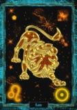 Астрологическая иллюстрация: Лео Стоковое Фото