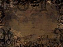 Астрологическая иллюстрация предпосылки символов Стоковые Фото