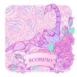 Астрологическая картина цвета scorpio изолированная на белой предпосылке Стоковое фото RF