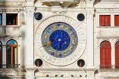Астрологические часы на dell'Orologio Torre в Венеции Стоковые Фотографии RF