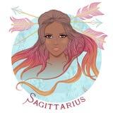 Астрологический знак Стрелца как красивый афроамериканец бесплатная иллюстрация