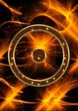 Астрологический символ Солнця стоковое изображение