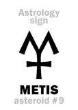 Астрология: астероидное METIS Стоковая Фотография