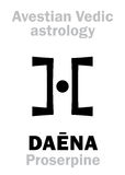 Астрология: астральный NA Proserpine ‹планеты DAÃ иллюстрация штока