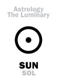 Астрология: SOL СОЛНЦЯ корифея Стоковая Фотография